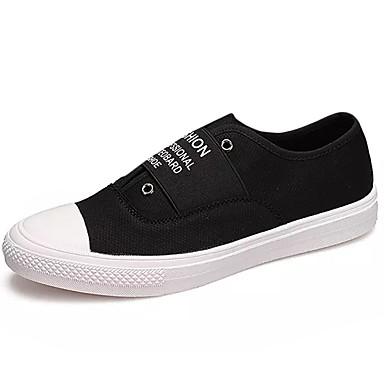Herre sko PU Vår Høst Komfort Treningssko Snøring til Avslappet Hvit Svart