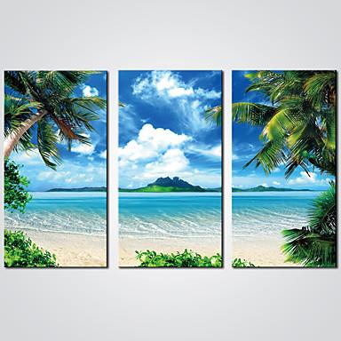 Estampados de Lonas Esticada 3 Painéis Tela de pintura Horizontal Estampado Decoração de Parede Decoração para casa