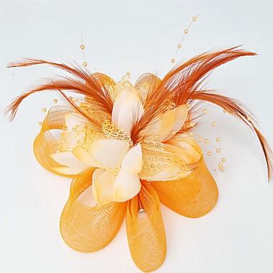 levne Ozdoby do vlasů na večírek-Síť Fascinátory / Klobouky / Doplňky do vlasů s Květiny 1ks Svatební / Zvláštní příležitosti Přílba