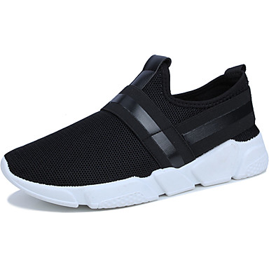 Men's Shoes PU Spring Fall Comfort Sneakers for Outdoor Black Gray