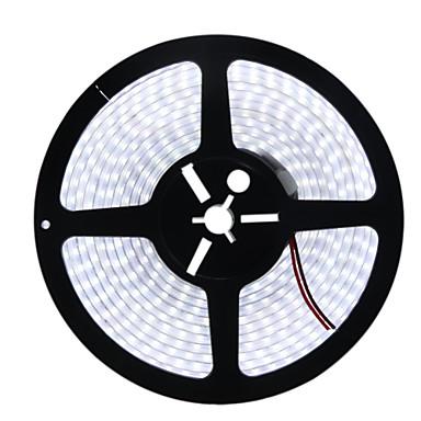 HKV 5m Faixas de Luzes LED Flexíveis 600 LEDs 5050 SMD Branco Quente / Branco Impermeável 12 V / IP67
