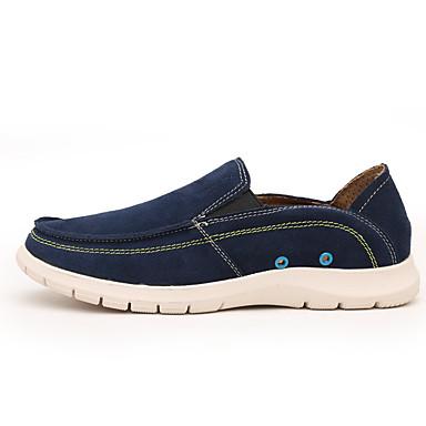 Homens sapatos Pele Primavera Verão Inovador Mocassins e Slip-Ons para Casual Laranja Azul Marinho Vinho