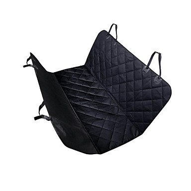 Cat Dog Car Seat Cover Pet Carrier Waterproof Portable Foldable Solid Black