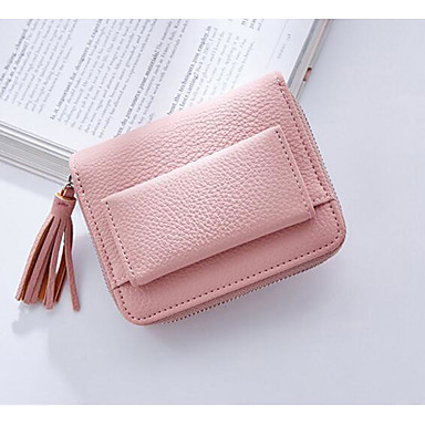 Women Coin Purse PU All Seasons Square Clasp Lock Blue Black Blushing Pink