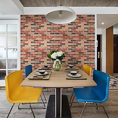Art Deco Tijolo Geométrico Papel de Parede Para Casa Contemprâneo Revestimento de paredes , Vinil Material Auto-adesivo papel de parede ,