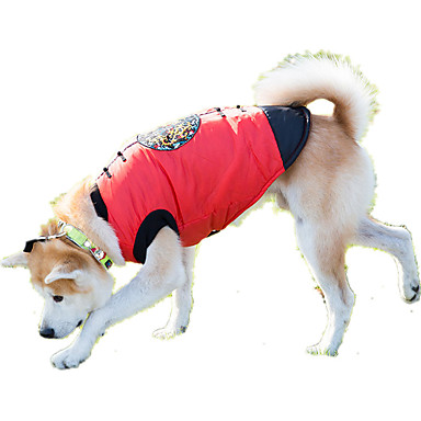 Dog Sweatshirt Dog Clothes Casual/Daily Geometric Red Costume For Pets