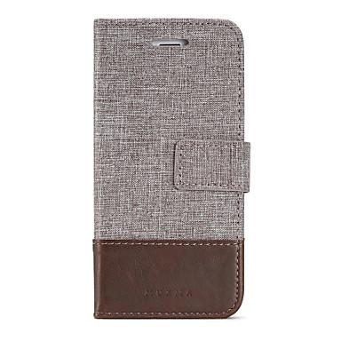 Capinha Para Apple iPhone 8 iPhone 8 Plus Porta-Cartão Carteira Com Suporte Flip Capa Proteção Completa Côr Sólida Rígida PU Leather para