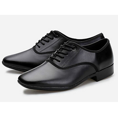 baratos Shall We® Sapatos de Dança-Homens Sapatos de Dança Pele Sapatos de Dança Latina Salto Personalizável Preto / Ensaio / Prática