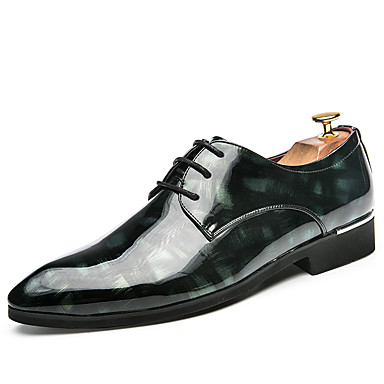 Men's Shoes Pigskin Spring / Summer / Fall Formal Shoes Oxfords Walking Shoes Black / Red / Green / Wedding / Party & Evening / Printed Oxfords