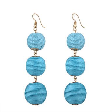 Women's Drop Earrings - Personalized, Bohemian, Fashion Fuchsia / Red / Blue For Wedding Anniversary Housewarming