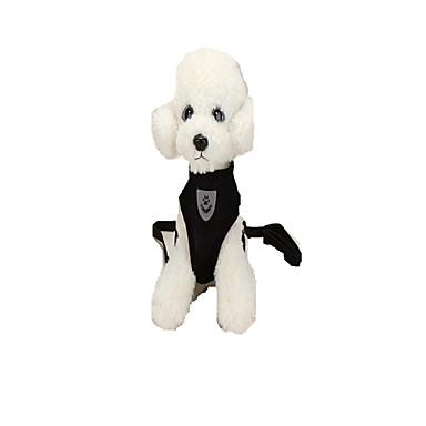 Cachorro Arreios Trelas Portátil Dobrável Segurança Ajustável Sólido Tecido Preto