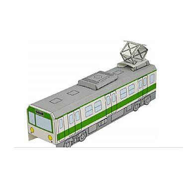 Carros de Brinquedo Quebra-Cabeças 3D Maquetes de Papel Aeronave Cauda Navio Ônibus Faça Você Mesmo Clássico Trem Carro de Polícia