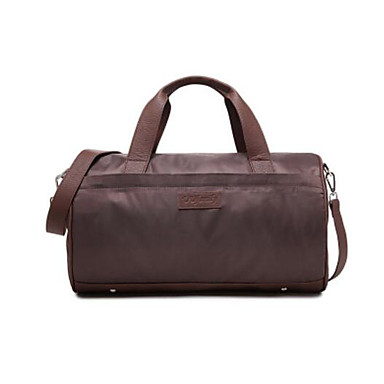 Unisex Travel Bag Polyester Cotton All Seasons Casual Outdoor Round Zipper Navy Blue Coffee Wine