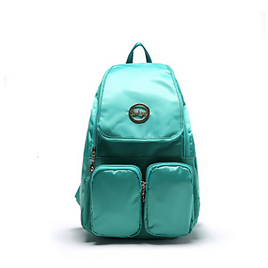 Women Shoulder Bag Canvas All Seasons Casual Sports Outdoor Rectangle Zipper Green Fuchsia Coffee