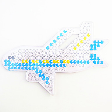 1PCS 5MM Fuse Beads Clear Template Pegboard Stencil Plane Aircraft Hama Perler Beads Pegboard Kid DIY Handmaking Educational Craft Toy Jigsaw Puzzle