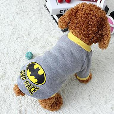 Cachorro Casacos Roupas para Cães Desenho Animado Cinzento Tecido / Plumagem / Algodão Ocasiões Especiais Para animais de estimação Verão Mulheres Casual