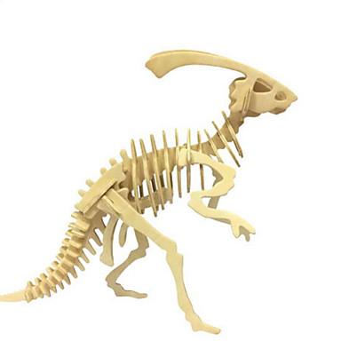 3D-puslespill Puslespill Tremodeller Modellsett Dinosaur Dyr 3D simulering GDS Tre Naturlig Tre Klassisk Unisex Gave