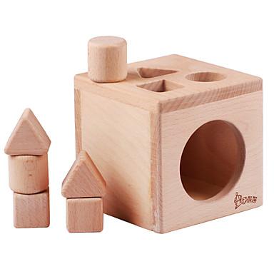 Blocos de Construir Jogos de Madeira Brinquedo Educativo Quadrada Legal Crianças Brinquedos Dom