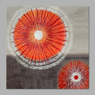 Håndmalte Blomstret/Botanisk Vannrett, Kunstnerisk Lerret Hang malte oljemaleri Hjem Dekor Et Panel