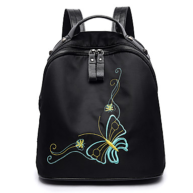 Women's Bags Oxford Cloth Backpack for Outdoor Winter All Seasons Black