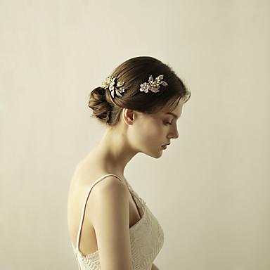 Strass Liga Pentes de cabelo Flores Presilha de cabelo 1 Casamento Ocasião Especial Aniversário Festa / Noite Capacete