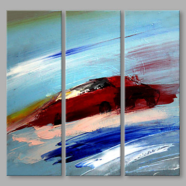 Oil Painting Hand Painted - Abstract Artistic Canvas Three Panels