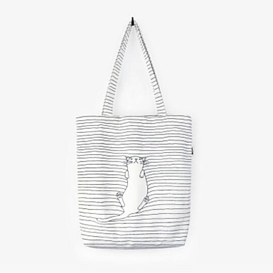 Women Bags All Seasons Canvas Shoulder Bag with for Casual Outdoor White