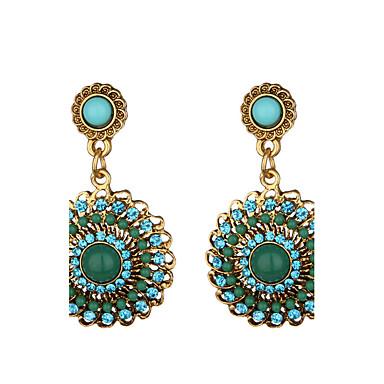 Women's Drop Earrings - Dangling Style White Black Brown Green Round Earrings For Dailywear Casual Stage