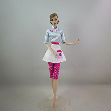 Cute Dress For Barbie Doll Polyester Dress For Girl's Doll Toy