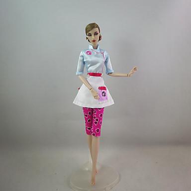 Bájos Ruha mert Barbie baba Poliészter Ruha mert Lány Doll Toy