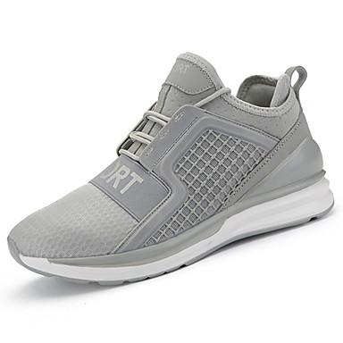 Mulheres Sapatos Couro Ecológico Primavera / Outono Conforto Tênis Sem Salto Preto / Cinzento / Vermelho