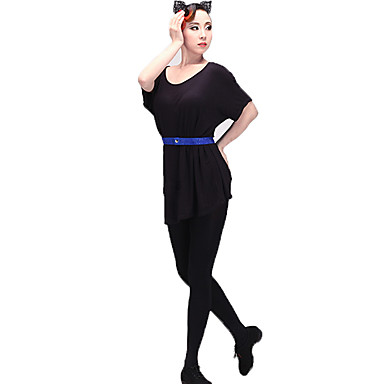 Latin Dance Women's Performance Modal Short Sleeve Dress