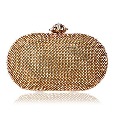 Damen Taschen PU Abendtasche Kristall Verzierung Perlen Verzierung für Veranstaltung / Fest Alle Jahreszeiten Gold Silber