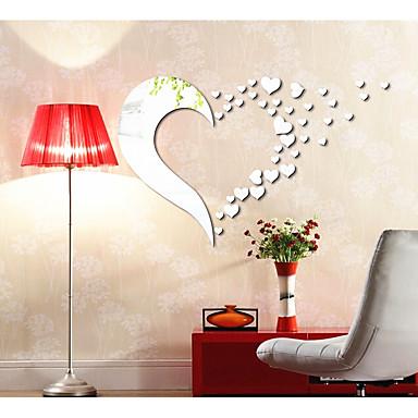Absztrakt Alakzatok 3D Falimatrica Tükör falimatrica Dekoratív falmatricák, Akril lakberendezési fali matrica Fal