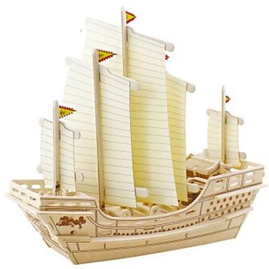 Robotime 3D építőjátékok Fejtörő Wood Model Hadihajó Hajó DIY Fa Gyermek Uniszex Ajándék