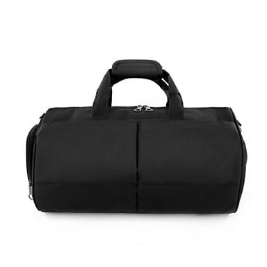Unisex Travel Bag Polyester All Seasons Casual Outdoor Cuboid Zipper Black Gray