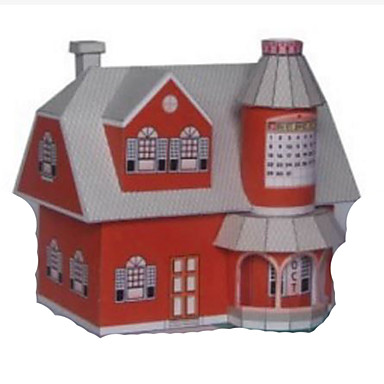 3D Puzzles Paper Model Paper Craft Model Building Kit House DIY Hard Card Paper Classic Cartoon Kid's Boys' Unisex Gift