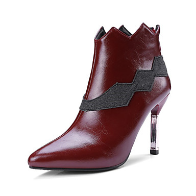 Women's Boots Novelty Gladiator Fashion Boots Spring Fall Customized Materials Leatherette Dress Office & Career Zipper Split Joint