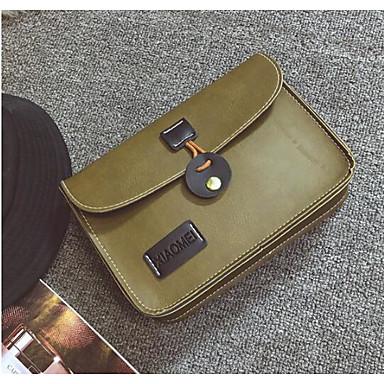 Women Shoulder Bag PU All Seasons Casual Outdoor Square Clasp Lock Black Gray Arm Green