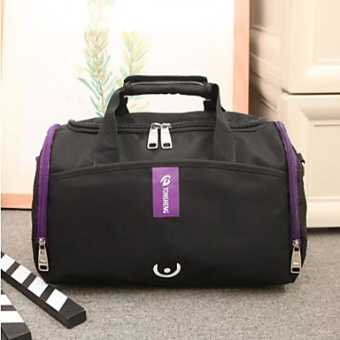 Unisex Bags All Seasons PU Oxford Cloth Polyester Travel Bag for Casual Outdoor Blue Red Purple