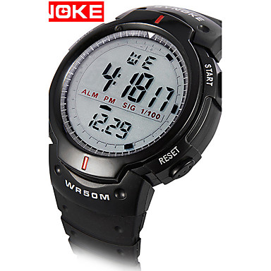 Недорогие Армейские часы-Муж. Спортивные часы Армейские часы Смарт Часы Кварцевый Цифровой силиконовый Разноцветный 30 m Защита от влаги Будильник Календарь Цифровой Кулоны Классика Винтаж На каждый день Кольцеобразный -