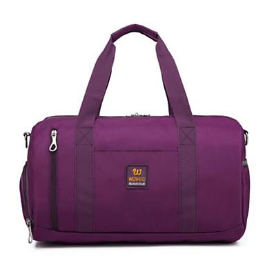 Unisex Travel Bag Oxford Cloth Polyester All Seasons Casual Outdoor Cylinder Zipper Black Purple Fuchsia