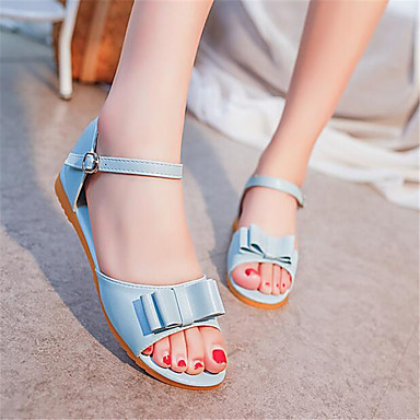 Women's Shoes PU Spring Comfort Sandals For Casual Light Blue Almond