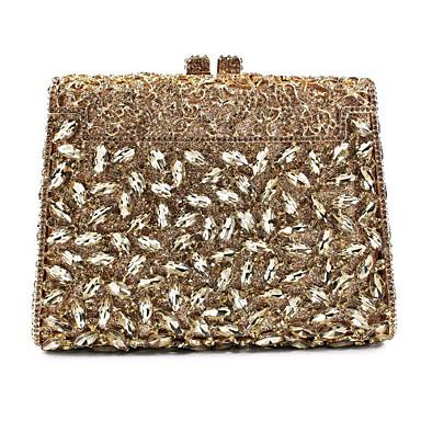 Női Táskák Fém Estélyi táska Strasszkő / Lánc / Fémes Arcpír rózsaszín / Bíbor / Világos bíbor / Tekintettel Crystal Evening Bags / Tekintettel Crystal Evening Bags