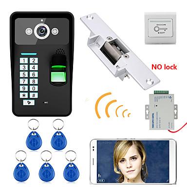 720p sem fio wifi rfid senha reconhecimento de impressão digital porta porta porta do telefone sistema de intercomunicação bloqueio de