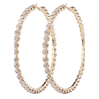 Women's Drop Earrings Synthetic Diamond Fashion Oversized Alloy Circle Jewelry For Wedding Party Gift Daily Date