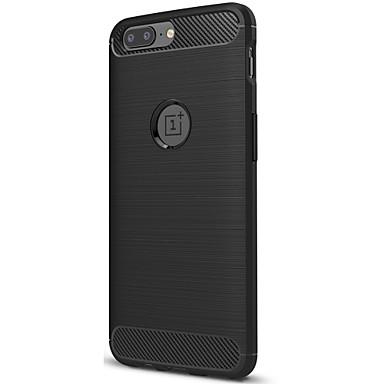 Case Kompatibilitás OnePlus Jeges Fekete tok Tömör szín Puha Szénrost mert One Plus 5