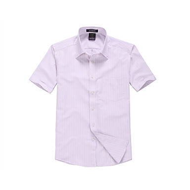 Men's Daily Work Party/Cocktail Going out Casual All Seasons Summer Shirt