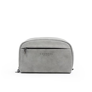 Women Bags All Seasons Other Leather Type Cosmetic Bag with for Casual Gray