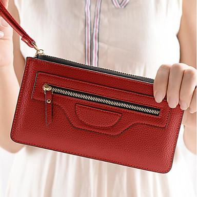 Women Coin Purse PU All Seasons Casual Outdoor Rectangle Zipper Blue Red Purple